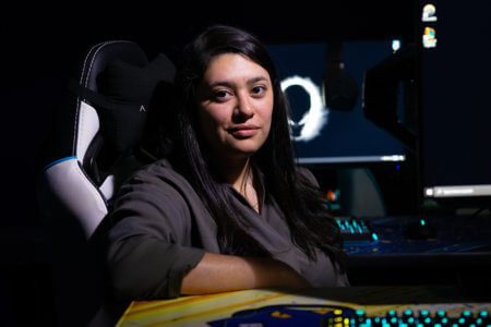 Kaitlin Teniente checks out the Esports arena.