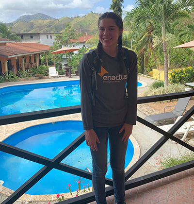 Double-major Wilzave Guzman in Panama with Enactus