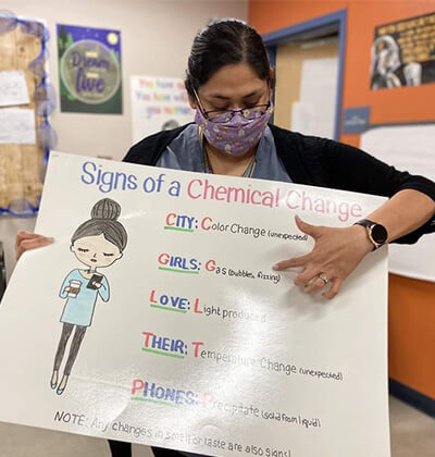 Alumna and science teacher Christina Lopez featured