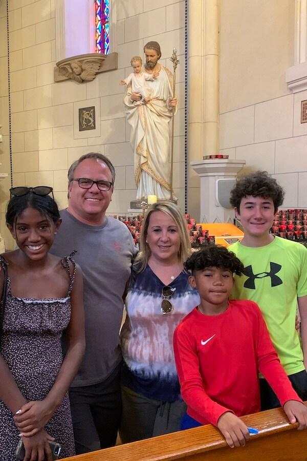 J.D. student Scott Stiles and family