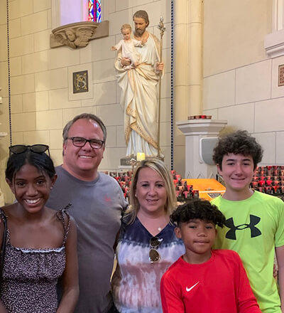 J.D. Student Scott Stiles and his family