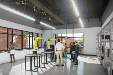 Innovation Center rendering of mechanical engineering lab