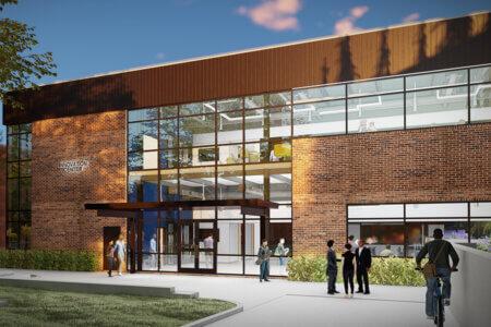 Innovation Center rendering exterior front