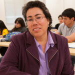 Sonia Garcia leads a class of students.